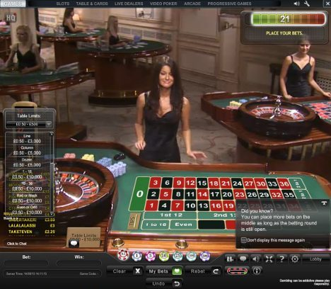 free live roulette uk