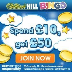 William Hill Bingo Bonus with Promo Code PROMO20
