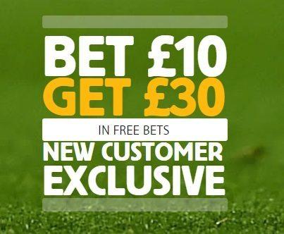 Betfair Bet £10 Get £30 in Free Bets