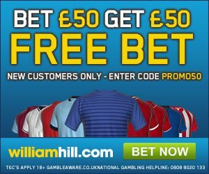 william hill free bet code