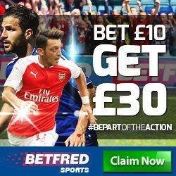 Betfred Promotion Code for £55 in Free Bets