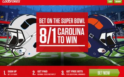 Bet on the Super Bowl at Ladbrokes!