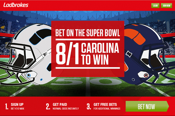 Bet on the Super Bowl at Ladbrokes!