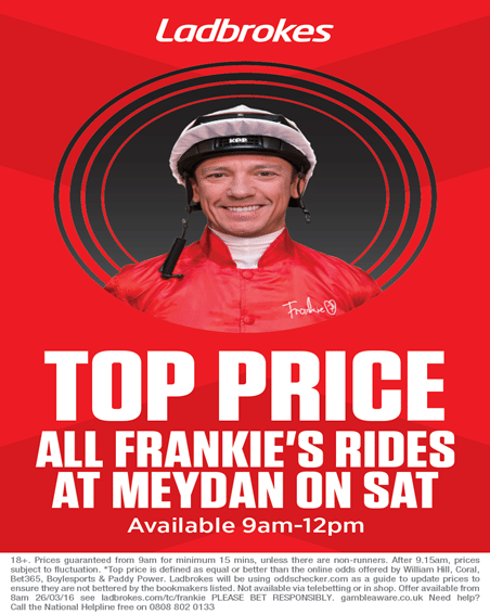 Ladbrokes International Specials & Frankie Dettori Best Prices