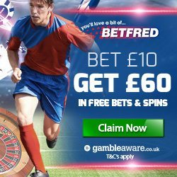 Betfred Promotion Code for £60 in Free Bets