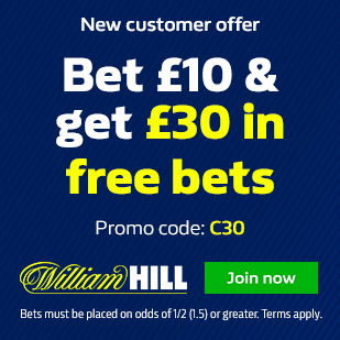 William Hill Free Bet with Promo Code C30
