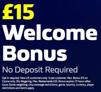 William Hill Casino Promo £15 No Deposit Bonus