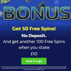 William Hill Free Spins No Deposit Bonus 50 Spins